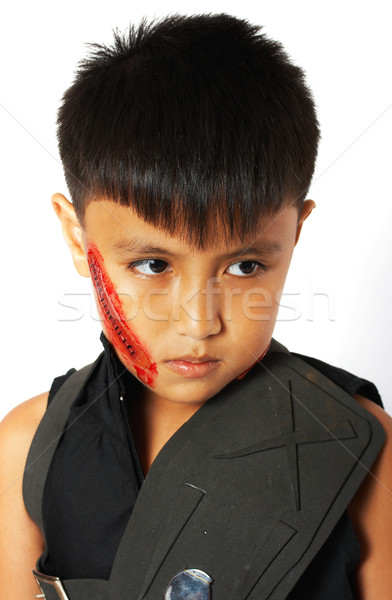 Boy In Costume With Fake Scar Stock photo © stuartmiles