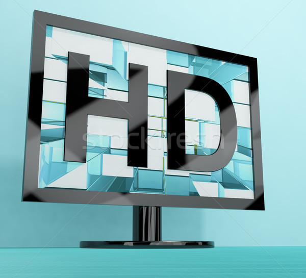 Stock photo: HD Monitor Representing High Definition Television Or TV