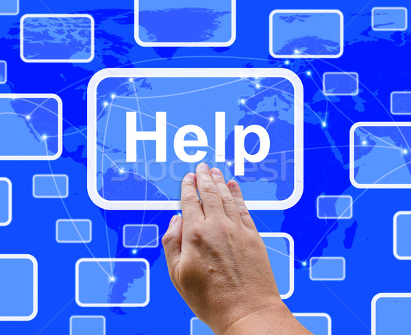 Help Button Showing Assistance Support And Answers Stock photo © stuartmiles