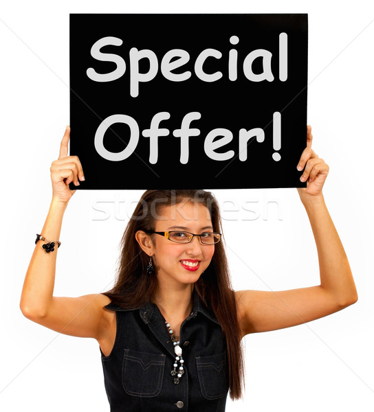 Special Offer Board Shows Discount Bargain Product Stock photo © stuartmiles