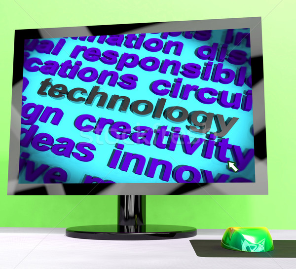 Technology Word Meaning Innovation Software And Hi Tech Stock photo © stuartmiles