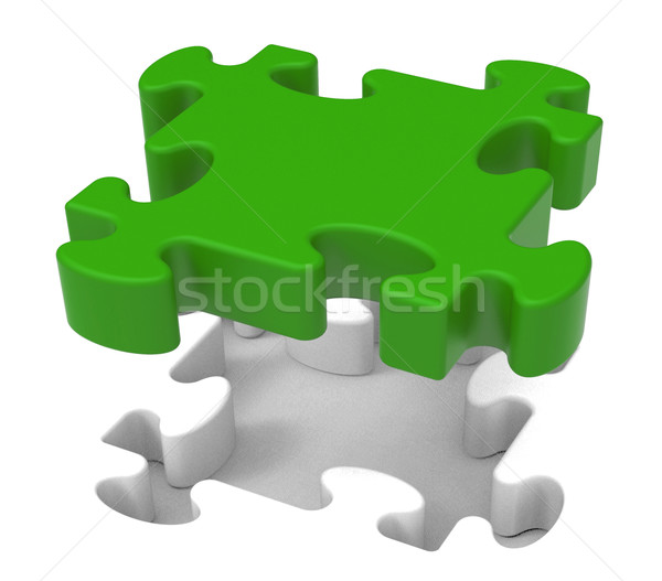 Puzzle Piece Shows Individual Object Problem Stock photo © stuartmiles