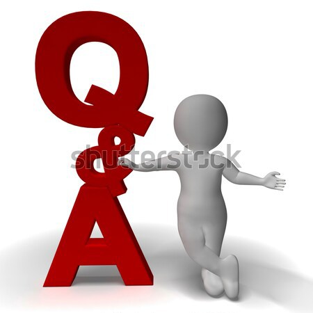 Question and Answer Q&A Sign And 3d Character Is Symbol For Supp Stock photo © stuartmiles
