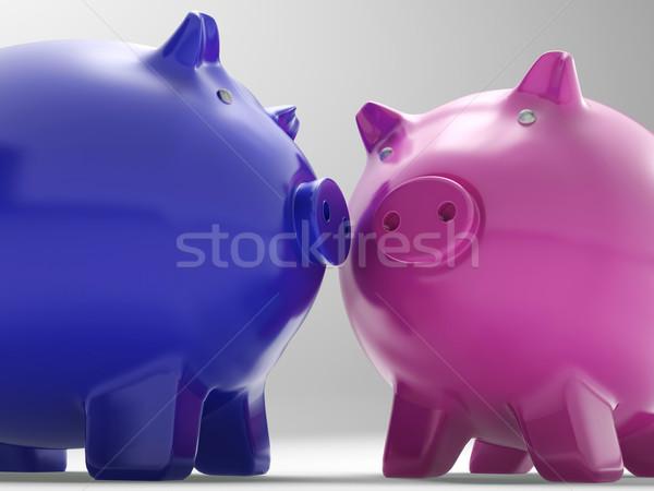 Coppia suini scambio abbondanza soldi Foto d'archivio © stuartmiles