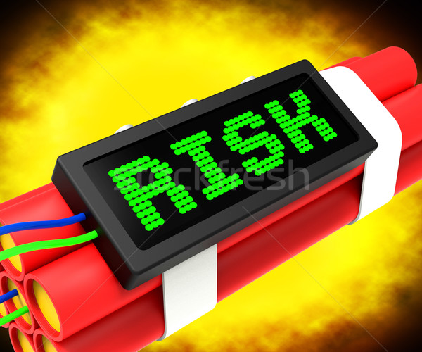 Risk On Dynamite Shows Unstable Situation Or Dangerous Stock photo © stuartmiles