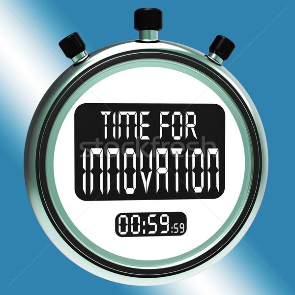 Time For Innovation Means Creative Development And Ingenuity Stock photo © stuartmiles