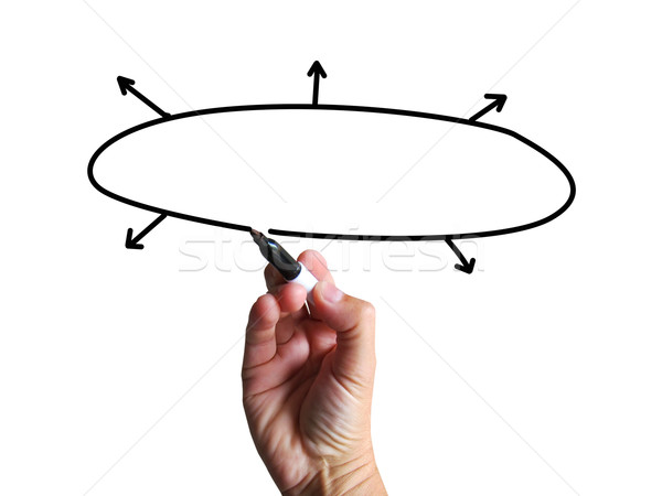 Blank Diagram Shows Copy Space Business Plan Arrows Flow Chart Stock photo © stuartmiles