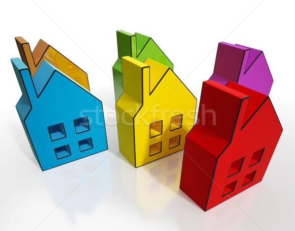 House Symbols Means Houses For Sale Stock photo © stuartmiles