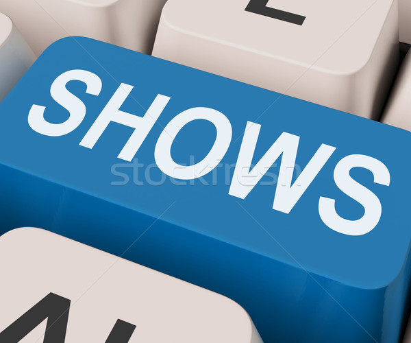 Shows Key Means Musicals Entertainment Or Theater Stock photo © stuartmiles