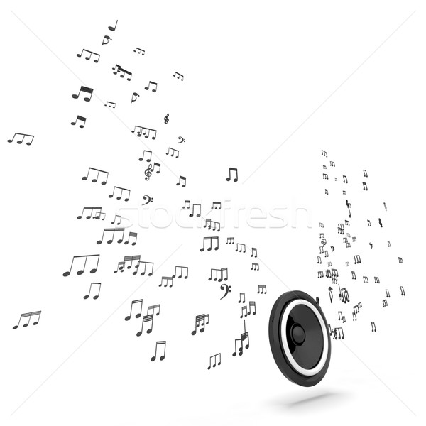 Spreker musical muziek audio geluid Stockfoto © stuartmiles