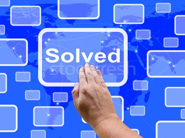 çözmek dokunmatik ekran başarı karar çözüm Stok fotoğraf © stuartmiles