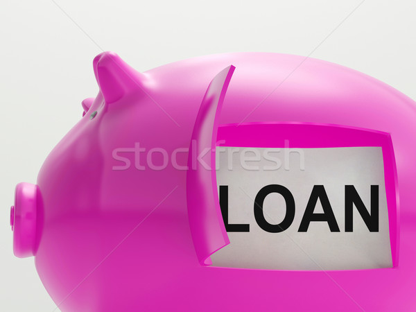 Loan Piggy Bank Means Money Borrowed Or Creditor Stock photo © stuartmiles