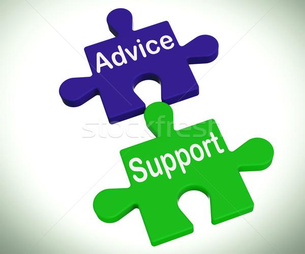 Rada wsparcia puzzle pomoc wsparcie faq Zdjęcia stock © stuartmiles