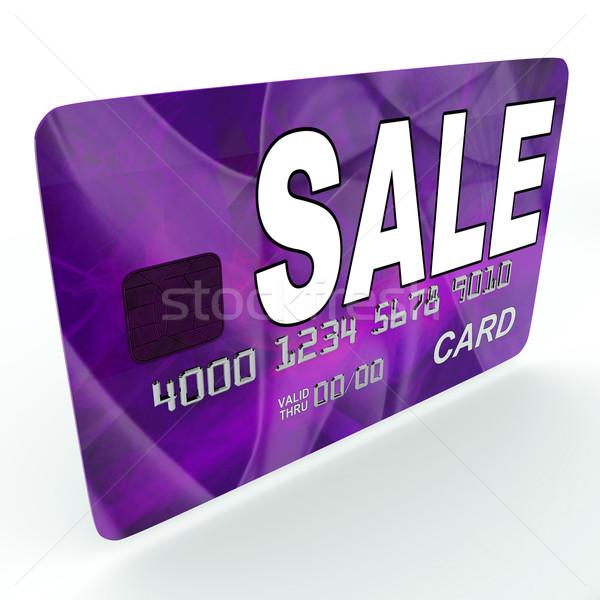 Venta crédito tarjeta de débito ofrecer ganga promoción Foto stock © stuartmiles