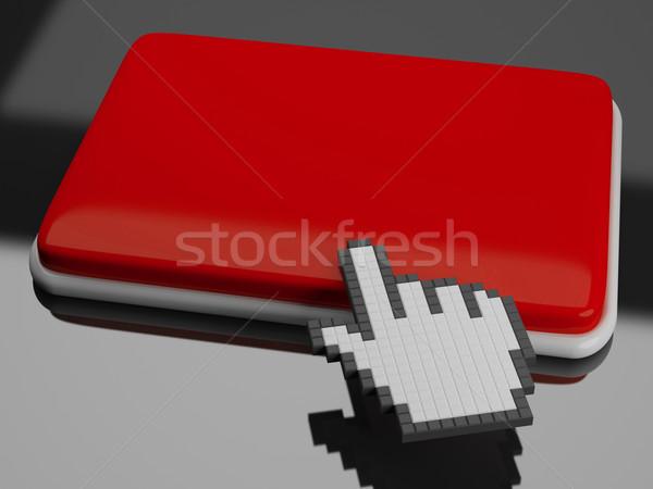 Kurzor kéz kulcs copy space kattintson ide mutat Stock fotó © stuartmiles