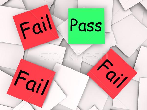 Notas fracasado significado Foto stock © stuartmiles
