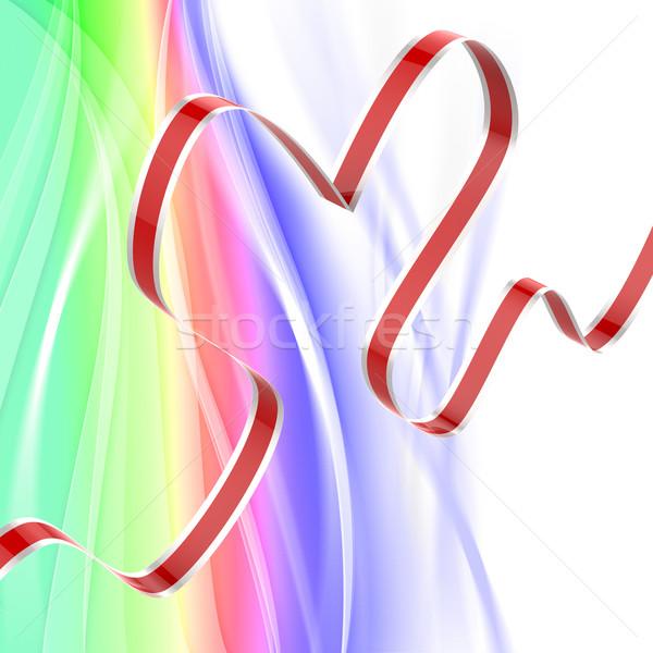 リボン 中心 情熱的な 関係 愛する 結婚 ストックフォト © stuartmiles
