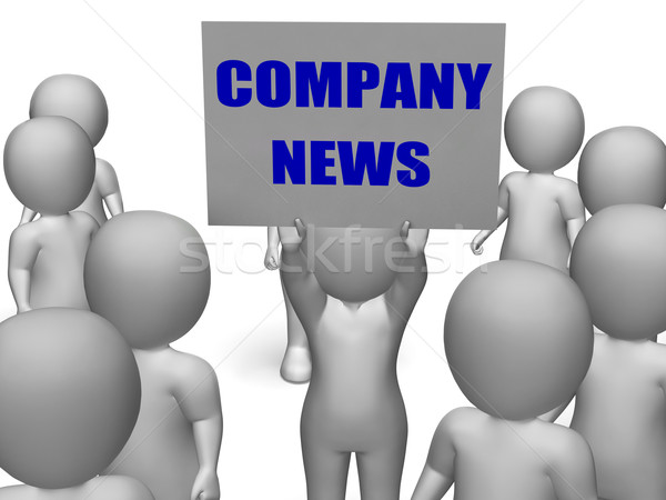 Company News Board Character Means Corporate Assets And Finances Stock photo © stuartmiles