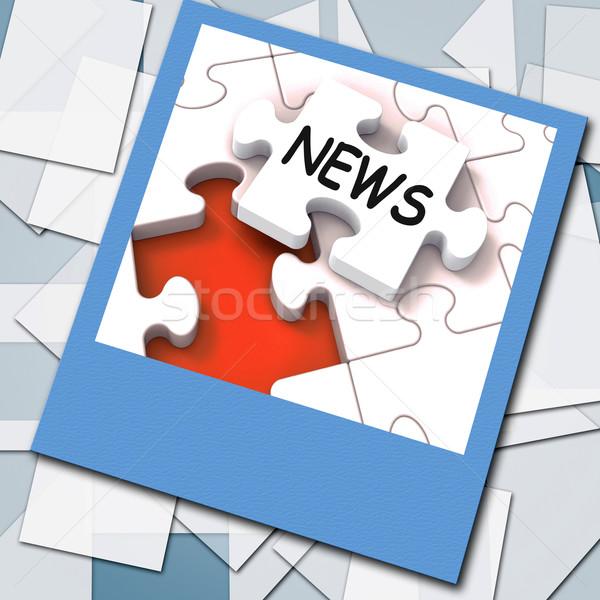 Hírek fotó online főcímek jelentés Stock fotó © stuartmiles