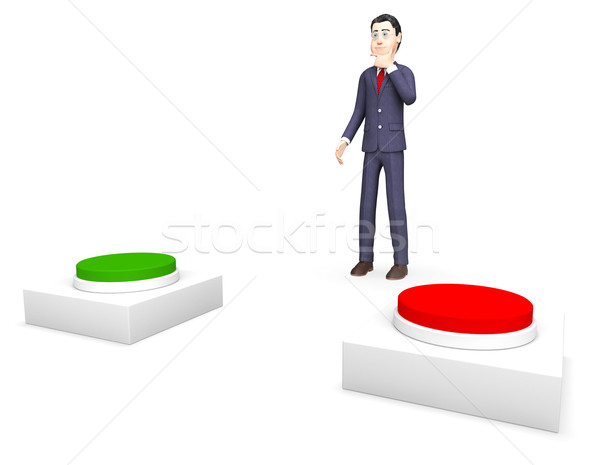 Businessman With Options Shows Biz Selection And Businessmen Stock photo © stuartmiles