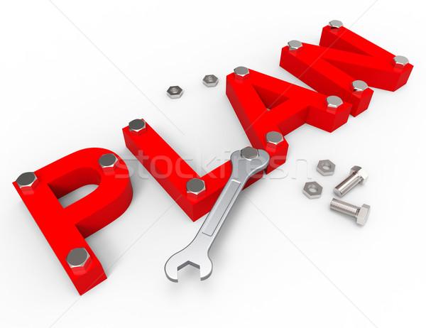 Gyártmány terv projekt vezetőség cég ötlet Stock fotó © stuartmiles