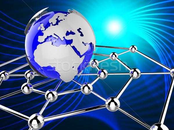 Wereldwijd netwerk computer digitale wereldbol Stockfoto © stuartmiles
