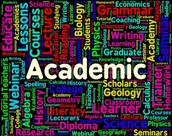 Academic Word Represents Military Academy And Institutes Stock photo © stuartmiles