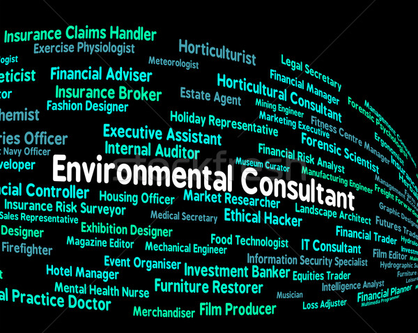 Stock photo: Environmental Consultant Shows Guide Consultation And Environmen