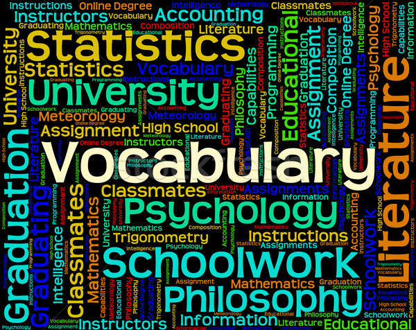 Vocabulary Word Means Spelling Glossary And Text Stock photo © stuartmiles