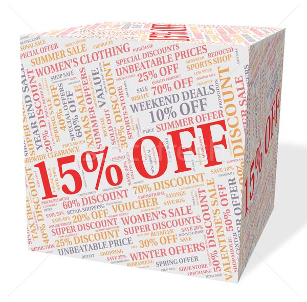 Quinze por cento barato promoção venda Foto stock © stuartmiles