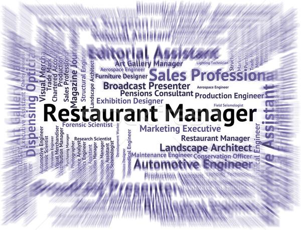 Restaurante gerente supervisor empleador restaurantes ejecutivo Foto stock © stuartmiles