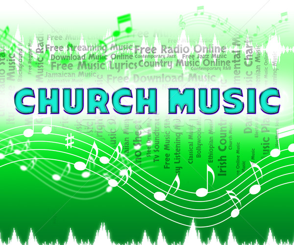 Church Music Shows Place Of Worship And Acoustic Stock photo © stuartmiles