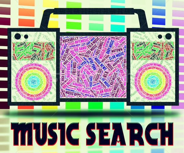 Music Search Indicates Sound Track And Analyse Stock photo © stuartmiles