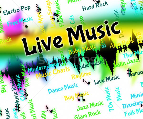 Live Music Indicates Sound Track And Harmonies Stock photo © stuartmiles