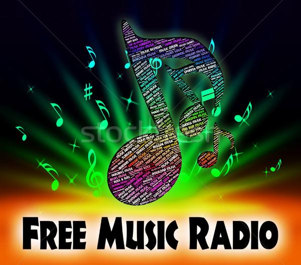 Gratis muziek radio niets gratis betekenis Stockfoto © stuartmiles