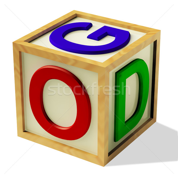 Block Spelling God As Symbol for Faith And Religion Stock photo © stuartmiles