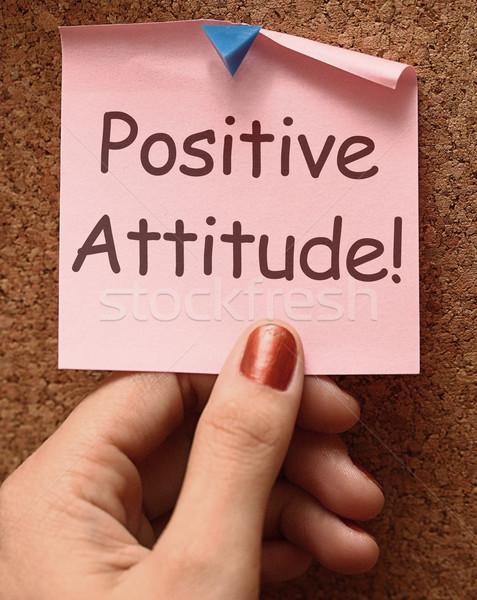 前向きな姿勢 注記 楽観 ストックフォト © stuartmiles