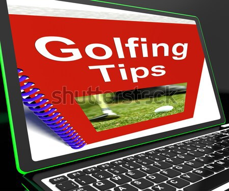 Golfing Tips Book Shows Advice For Golfers Stock photo © stuartmiles
