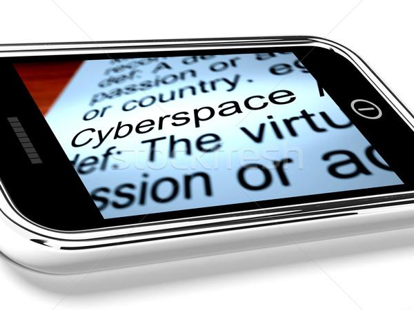サイバースペース 携帯電話 インターネット 接続 技術 携帯 ストックフォト © stuartmiles