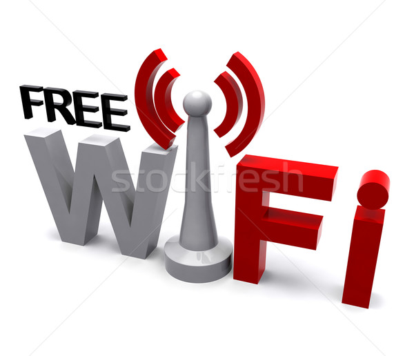 Free Wifi Internet Symbol Shows Coverage Stock photo © stuartmiles