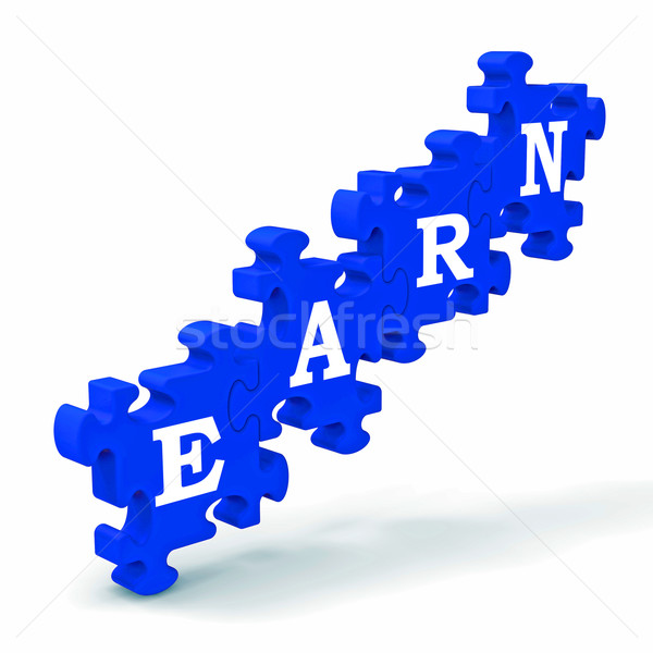 Earn Shows Employment Vocation And Earning Money Stock photo © stuartmiles