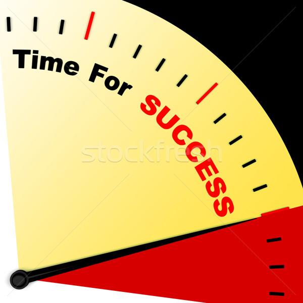 Time For Success Message Representing Victory And Winning Stock photo © stuartmiles
