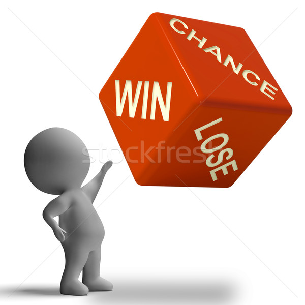 шанс выиграть терять Dice игорный Сток-фото © stuartmiles