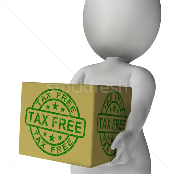 Tax Free Stamp On Box Showing No Duty Stock photo © stuartmiles