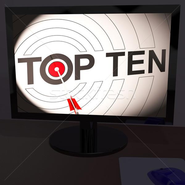 Topo dez monitor musical competição Foto stock © stuartmiles