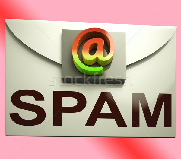 Spam Envelope Shows Unwanted E-mail Message Inbox Stock photo © stuartmiles