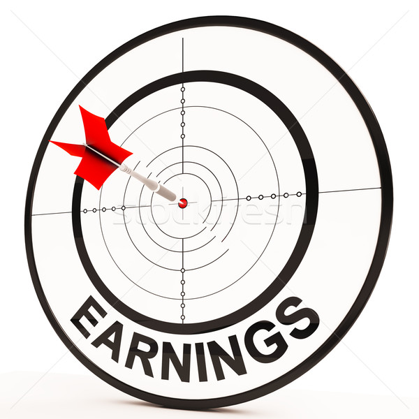 Earnings Shows Prosperity, Career, Revenue And Income Stock photo © stuartmiles