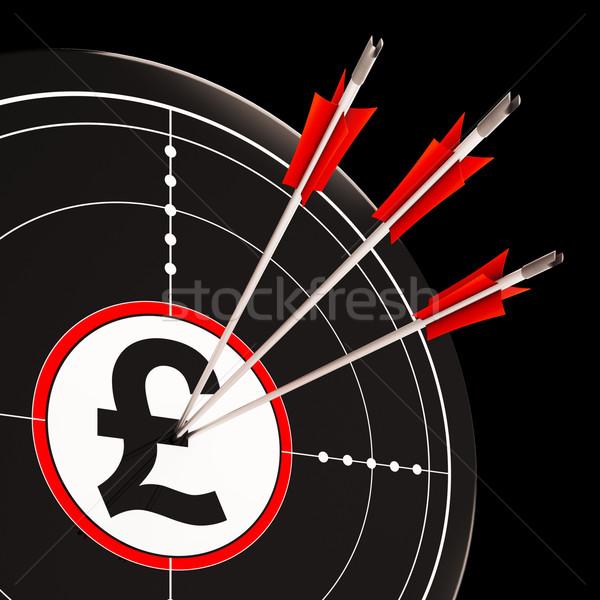 фунт целевой Великобритания банковской Сток-фото © stuartmiles