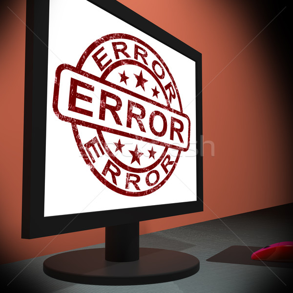 Stock photo: Error On Monitor Showing Mistakes