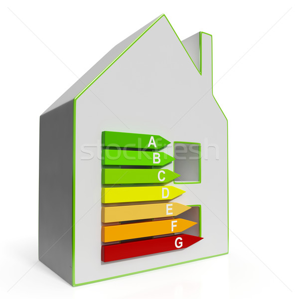Energy Efficiency Housing Diagram Shows Classification Stock photo © stuartmiles